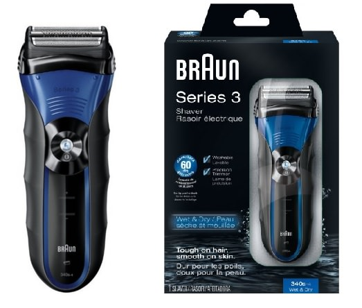 Braun Series 3-340s Wet and Dry Electric Shaver