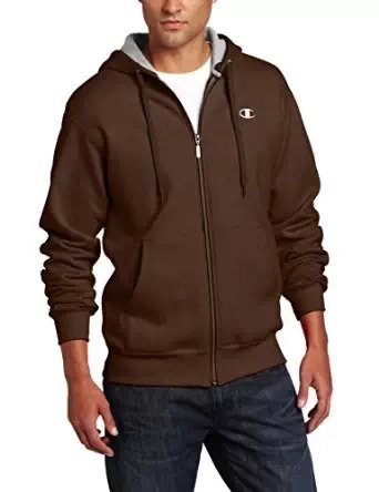Champion Men's Full Zip Eco Fleece Hoodie Jacket