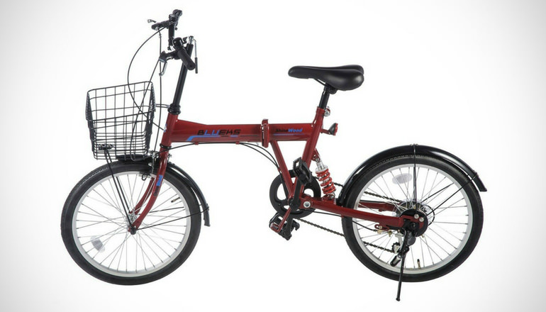 Merax Folding Commuter Bike with busket