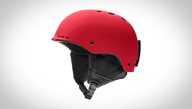 Red snow holt helmet