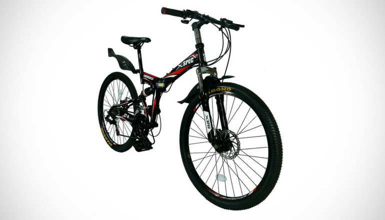 Xspec Folding Mountain Bike Bicycle Trail Commuter