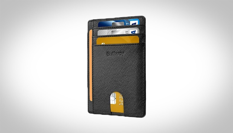 Buffway Slim Minimalist Leather Wallet
