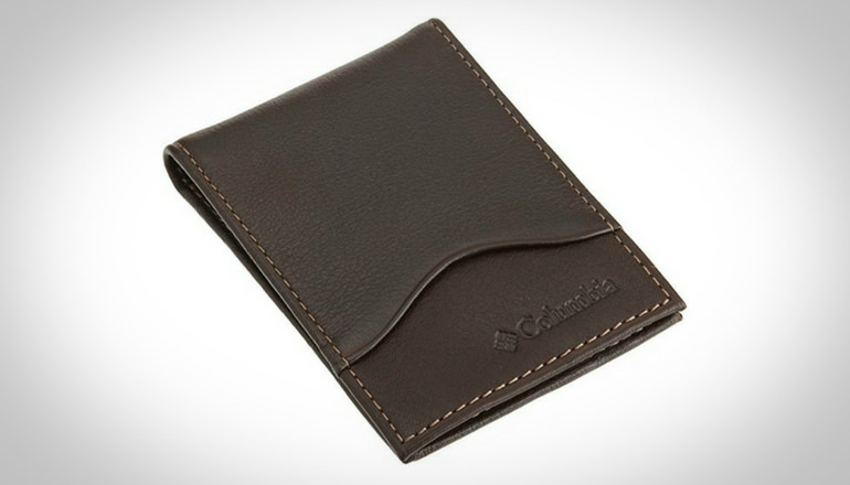 Columbia Men Leather Slim Ft. Pocket Wallet