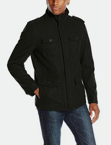 Dockers Men Wool Melton Military Field Jacket