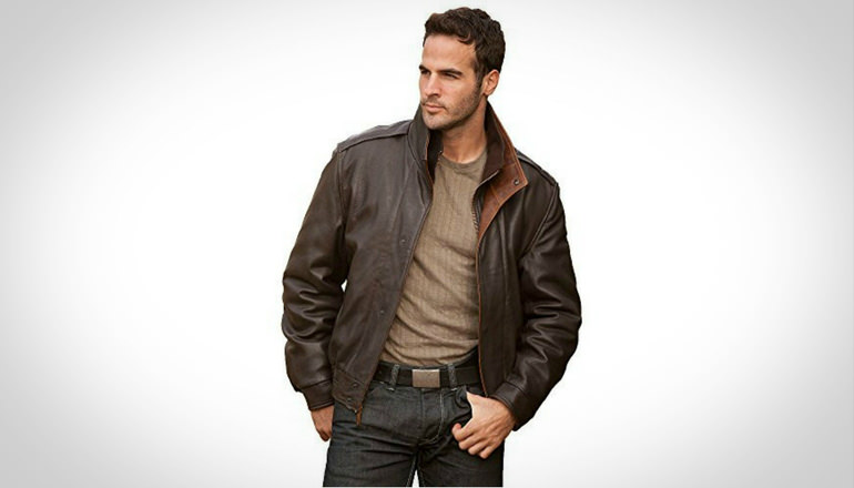 Avenger A-2 Lambskin Leather Bomber Jacket
