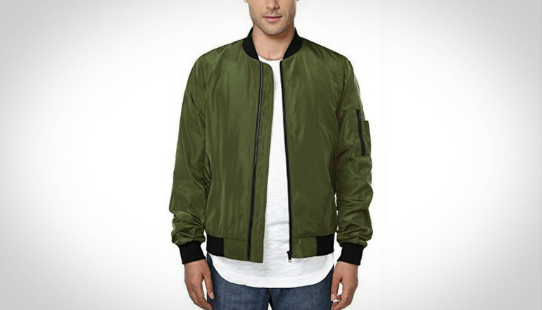 Hemoon Men Casual Baseball Bomber Jacket