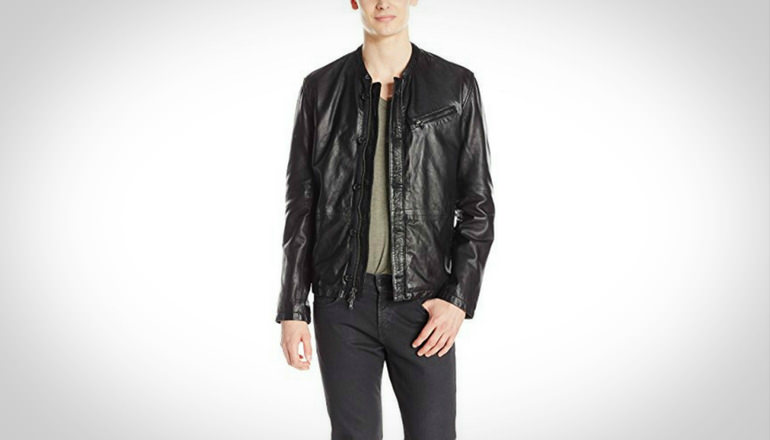 John Varvatos Men Leather Bomber