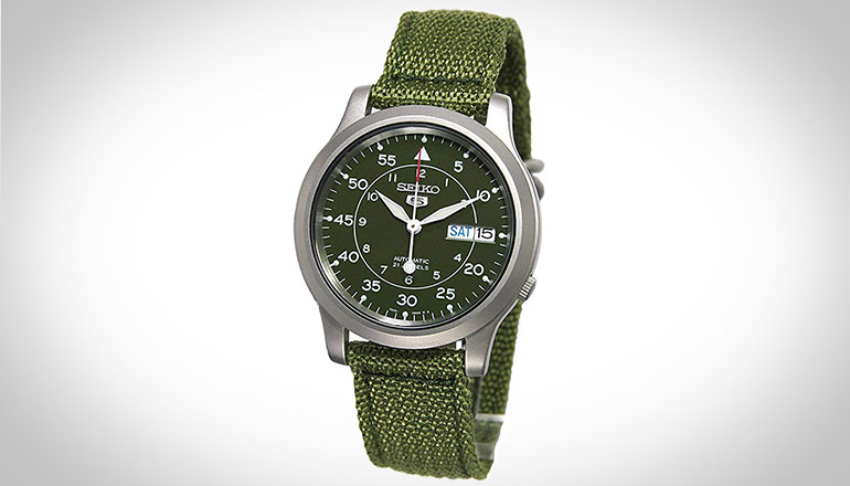 Seiko Men's SNK805 Seiko 5 Green Campus