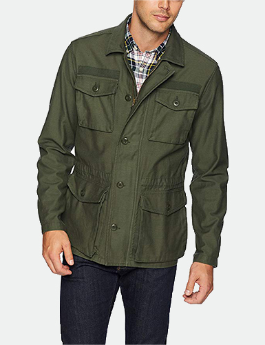 Goodthreads Men Lightweight Military Jacket